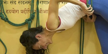 Marta Fernandez on the Iyengar ropes