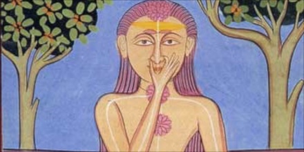 Pranayama detail from Indian Art