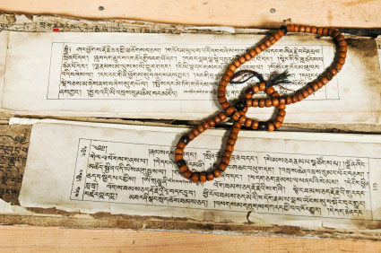 manuscripts-in-sanskrit-written-on-palm-leaves